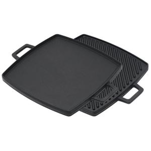 Bayou Classic 10.5 inch x 10.5 inch Cast Iron Reversible Griddle by Bayou Classic