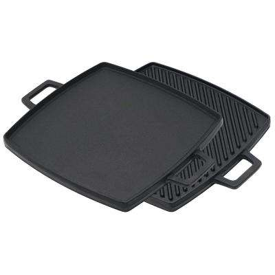 10.5 in. x 10.5 in. Cast Iron Reversible Griddle