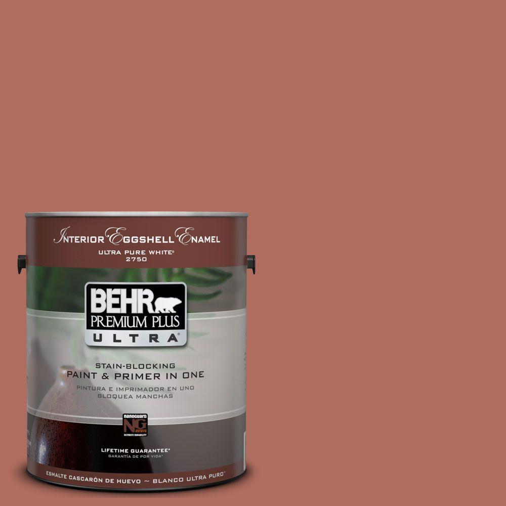 BEHR Premium Plus Ultra 1-Gal. #UL120-17 Terra Cotta Urn Interior Eggshell Enamel Paint