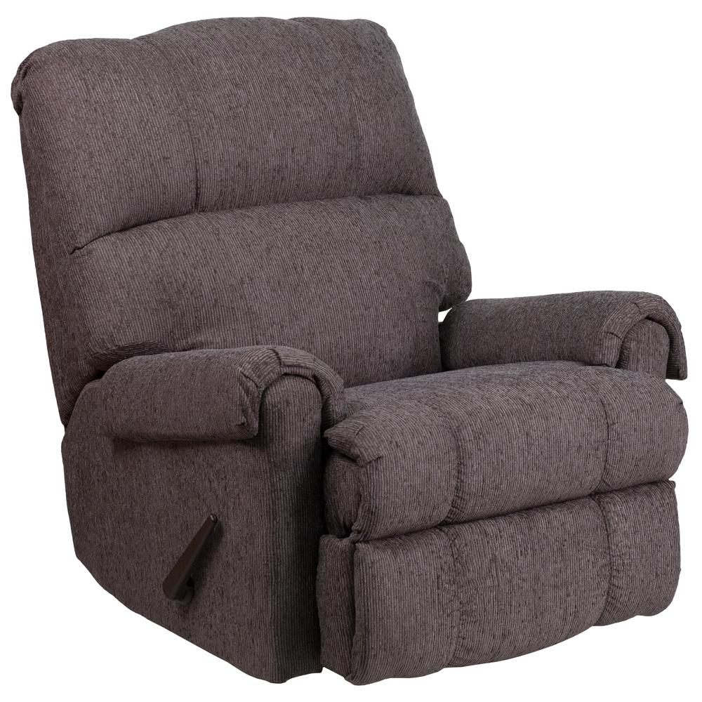 Awesome Flash Furniture Contemporary Couger Gray Chenille Rocker Recliner