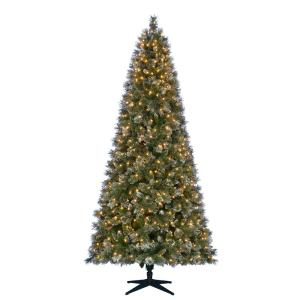 7.5 ft. Pre-Lit LED Sparkling Pine Artificial Christmas Tree with 600 Warm White Lights