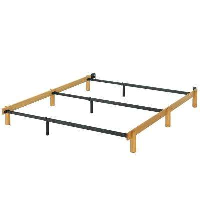 Austin Wood and Metal Campack Bed Frame, Full/Queen/King
