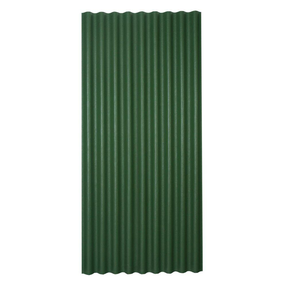 3 ft. x 6.5 ft. Corrugated Asphalt Roof Panel in Green