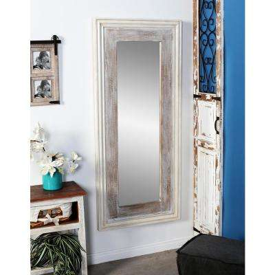 Rectangular Rustic White Door/Wall Mirror