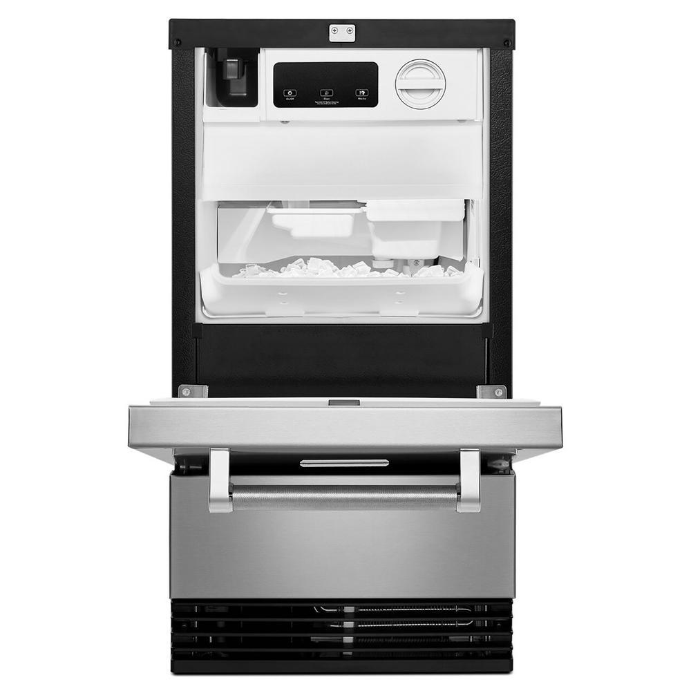 18 in. 50 lb. Built-In Ice Maker in PrintShield Stainless Steel