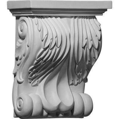 8-3/4 in. x 4-5/8 in. x 11 in. Primed Polyurethane Forest Leaf Corbel