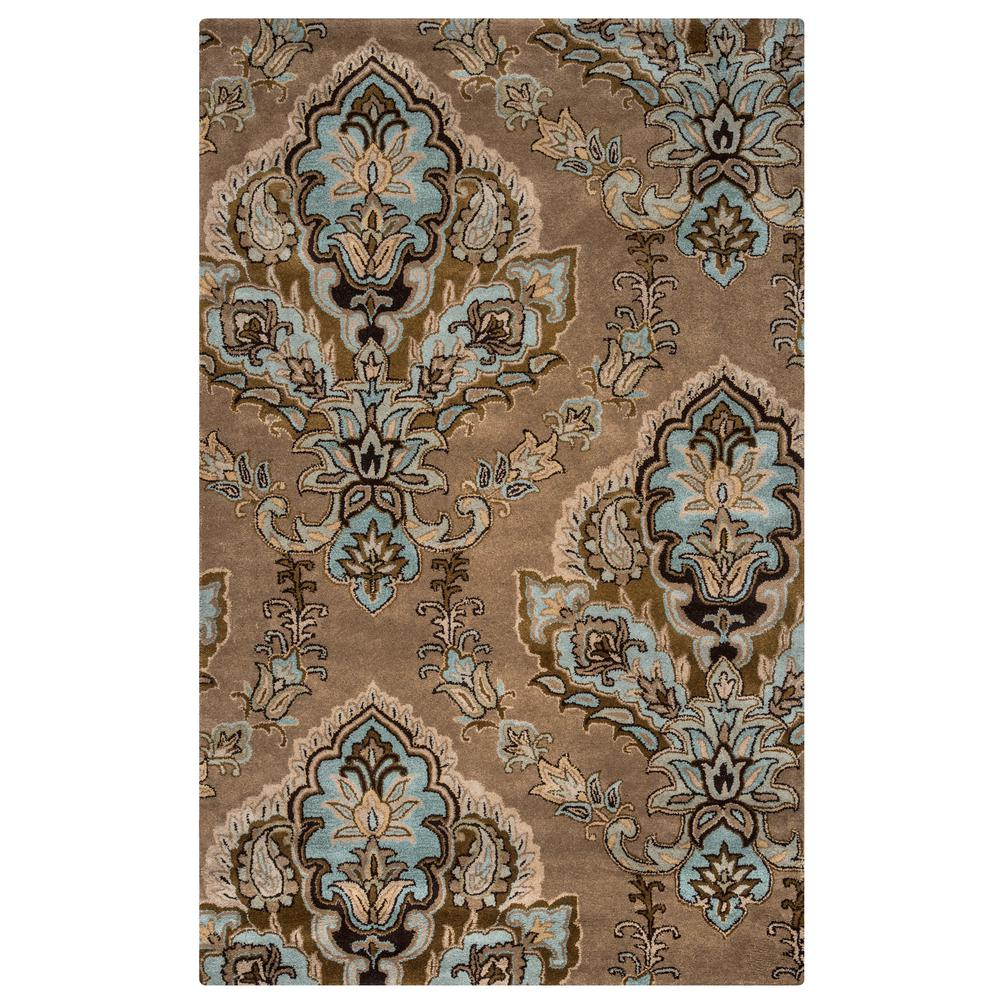 Volare Tan Medallion Hand Tufted Wool 8 ft. x 8 ft.