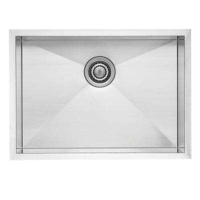 Quatrus R0 Undermount Stainless Steel 22 in. Small Single Bowl Kitchen Sink
