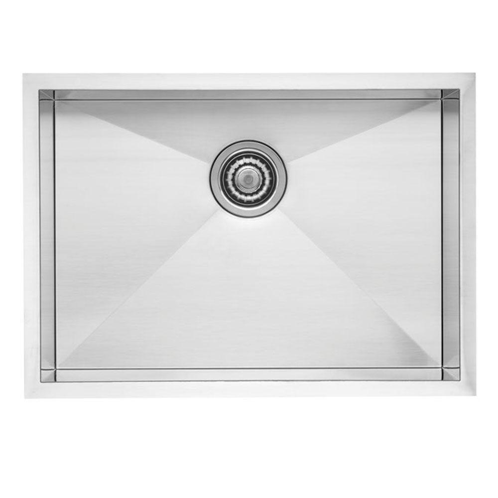 Blanco QUATRUS R0 Undermount Stainless Steel 22 in. Single Bowl Kitchen Sink