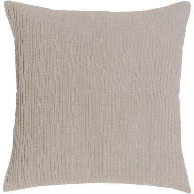 Johanna Light Gray Euro Sham