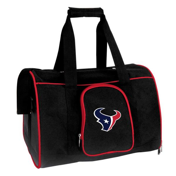 Denco NFL Houston Texans Pet Carrier Premium 16 in. Bag in