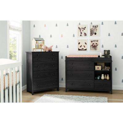 Little Smileys 4-Drawer Gray Oak Changing Table