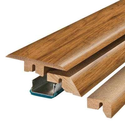 Smoked Hickory 3/4 in. Thick x 2-1/8 in. Wide x 78-3/4 in. Length Laminate 4-in-1 Molding