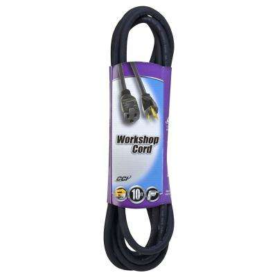 10 ft. 16/3 SJOW Outdoor Light-Duty Workshop Extension Cord