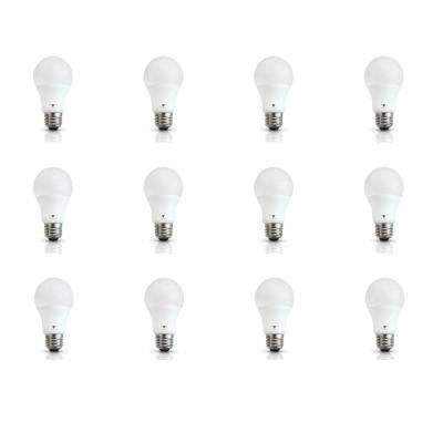 60-Watt Equivalent A19 E26 Base LED Light Bulb Deco White (12-Pack)