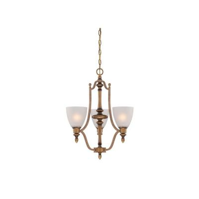 Isla 3-Light Aged Brass Chandelier