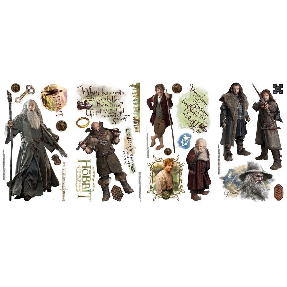 null 10 in. x 18 in. The Hobbit 26-Piece Peel and Stick Wall Decals