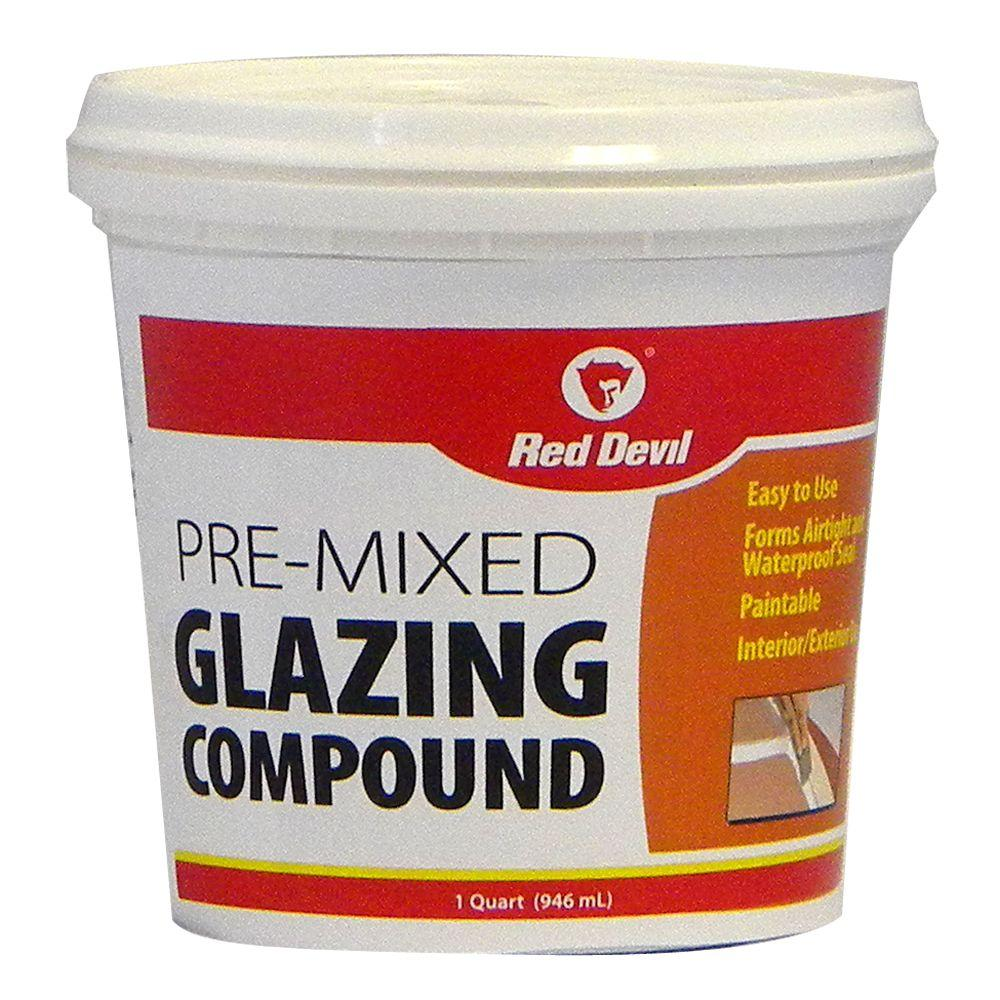 Red Devil 1 qt. Pre-Mixed Glazing Compound