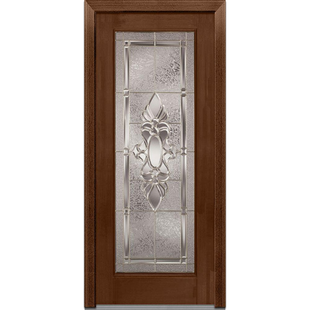 36 in. x 80 in. Heirloom Master Right-Hand Full Lite Decorative