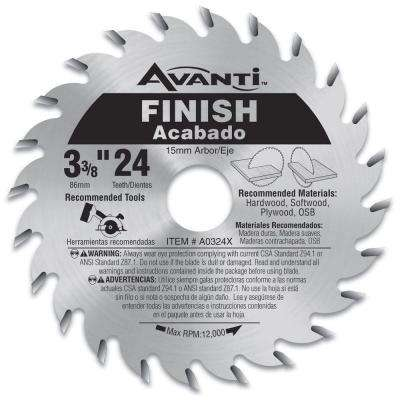 3-3/8 in. x 24-Teeth Finish Saw Blade