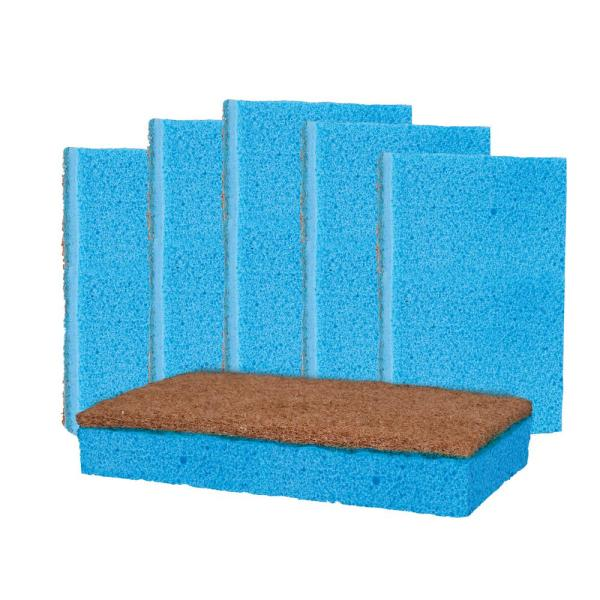 Kitchen Heavy-Duty Odor and Bacteria Resistant Scrub Sponge (6-Pack)