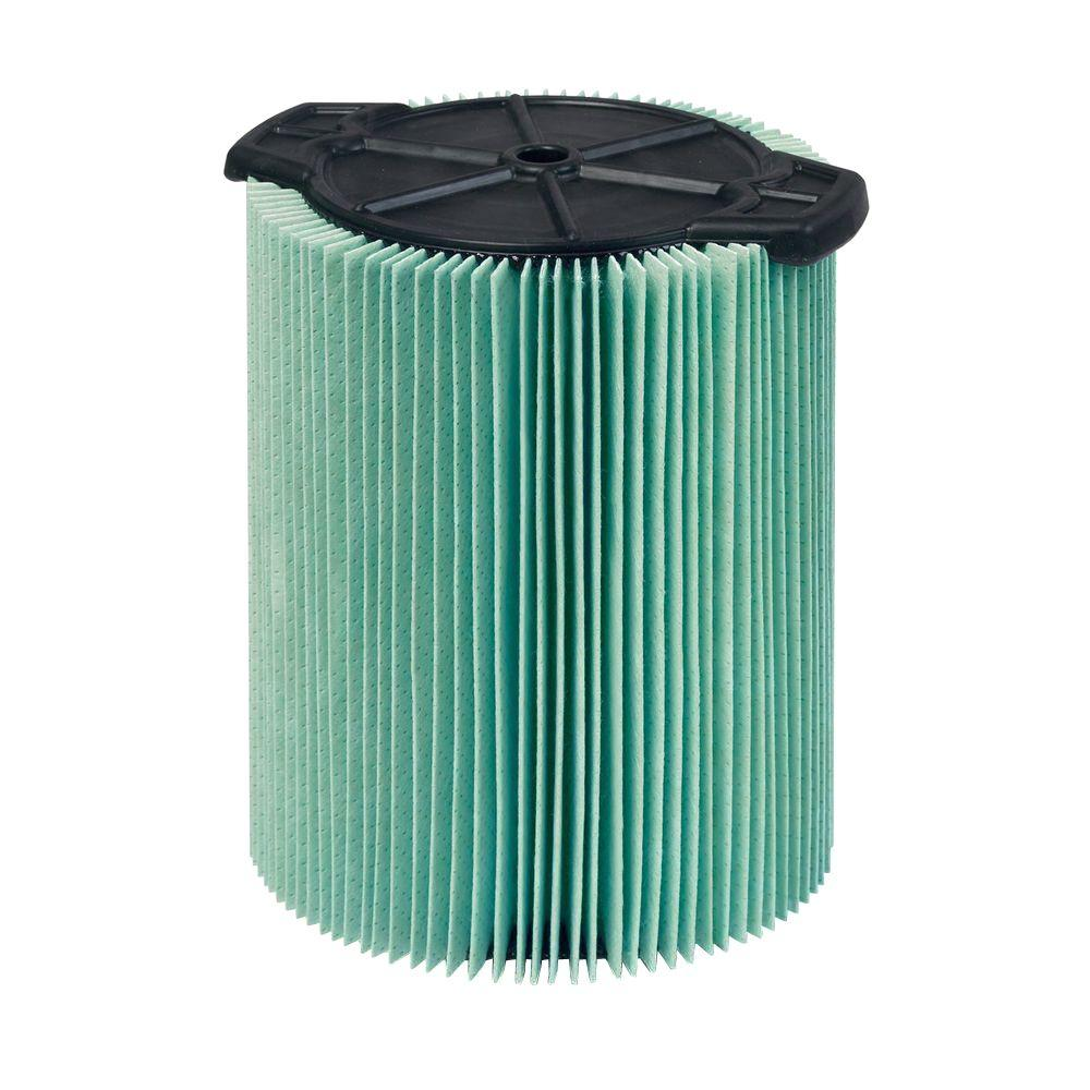 RIDGID 5-Layer Allergen Pleated Paper Filter for 5.0+ gal. RIDGID Wet Dry Vacs