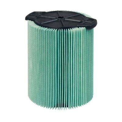 5-Layer Allergen Pleated Paper Filter for 5.0+ gal. RIDGID Wet Dry Vacs