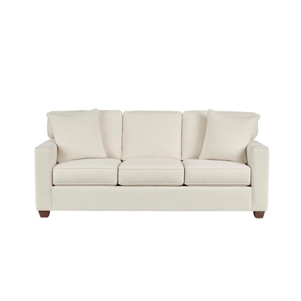 Woodfield Acuff Ivory Straight Standard Sofa (83.5 in. W x 37 in. H)