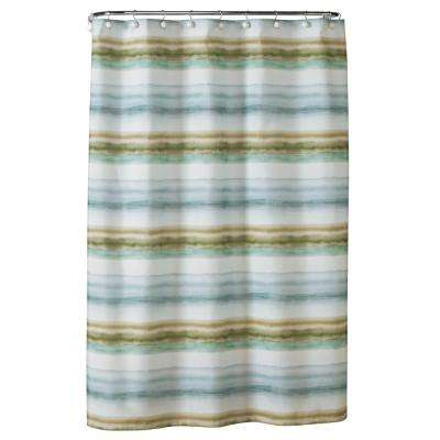72 in. Everglades Fabric Shower Curtain