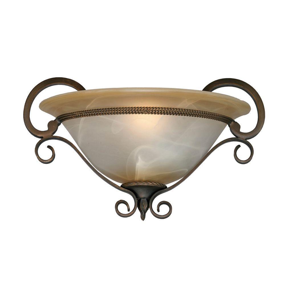 Meridian Collection 1-Light Golden Bronze Sconce
