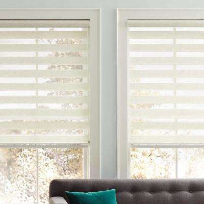 Cut-to-Size Natural Corded Light Filtering Roller Shades 72 in. W x 59 in. L