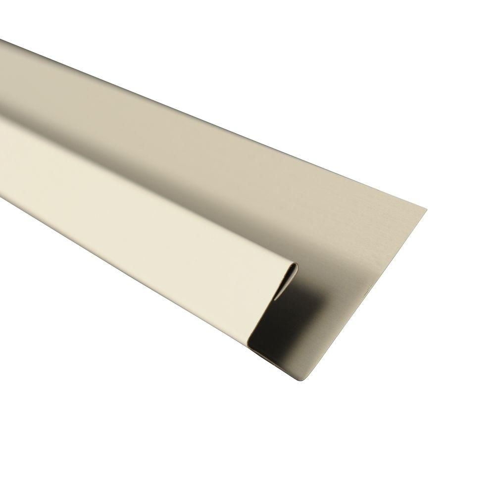 Metal Sales 5 in. x 10.5 ft. J-Channel Drip Edge Flashing in White ...