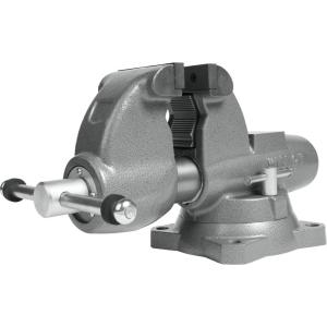 Combination Pipe and Bench 4-1/2 in. Jaw Round Channel Vise with Swivel Base