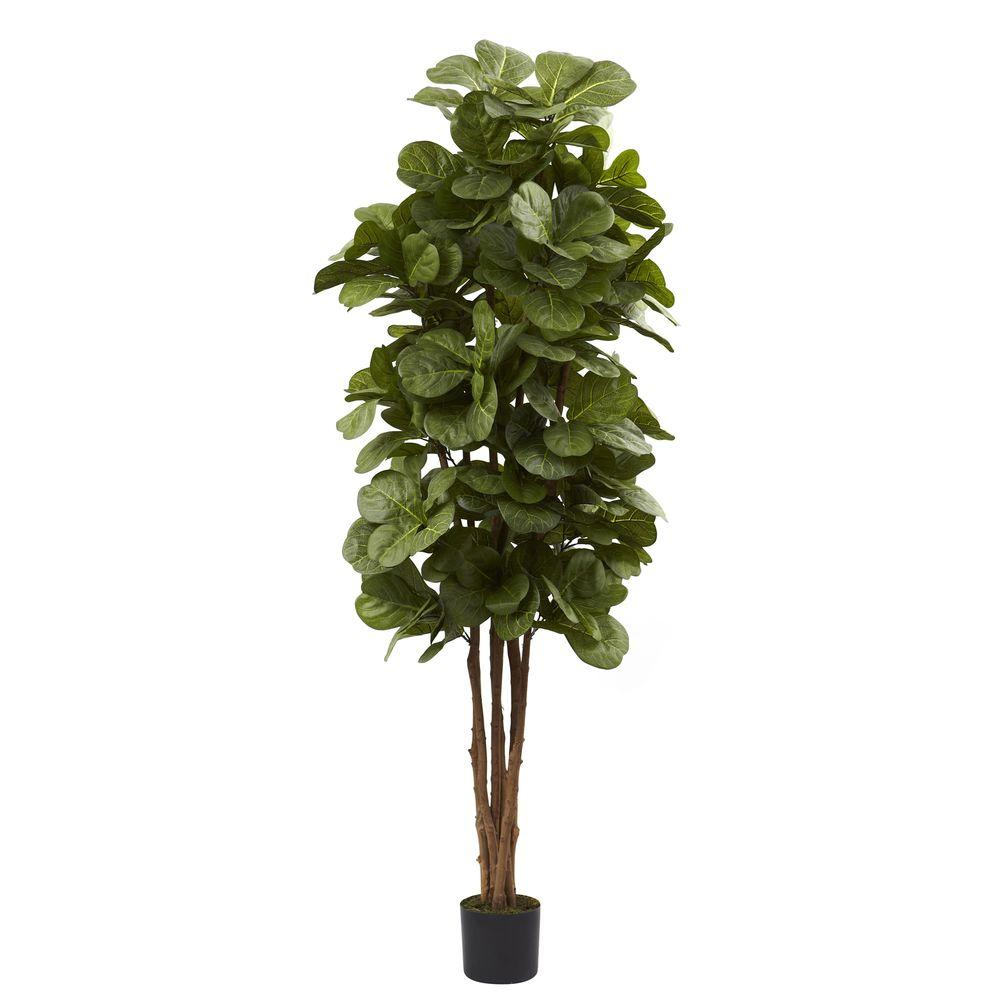 nearly natural 6 ft fiddle leaf fig tree 5346 the home depot