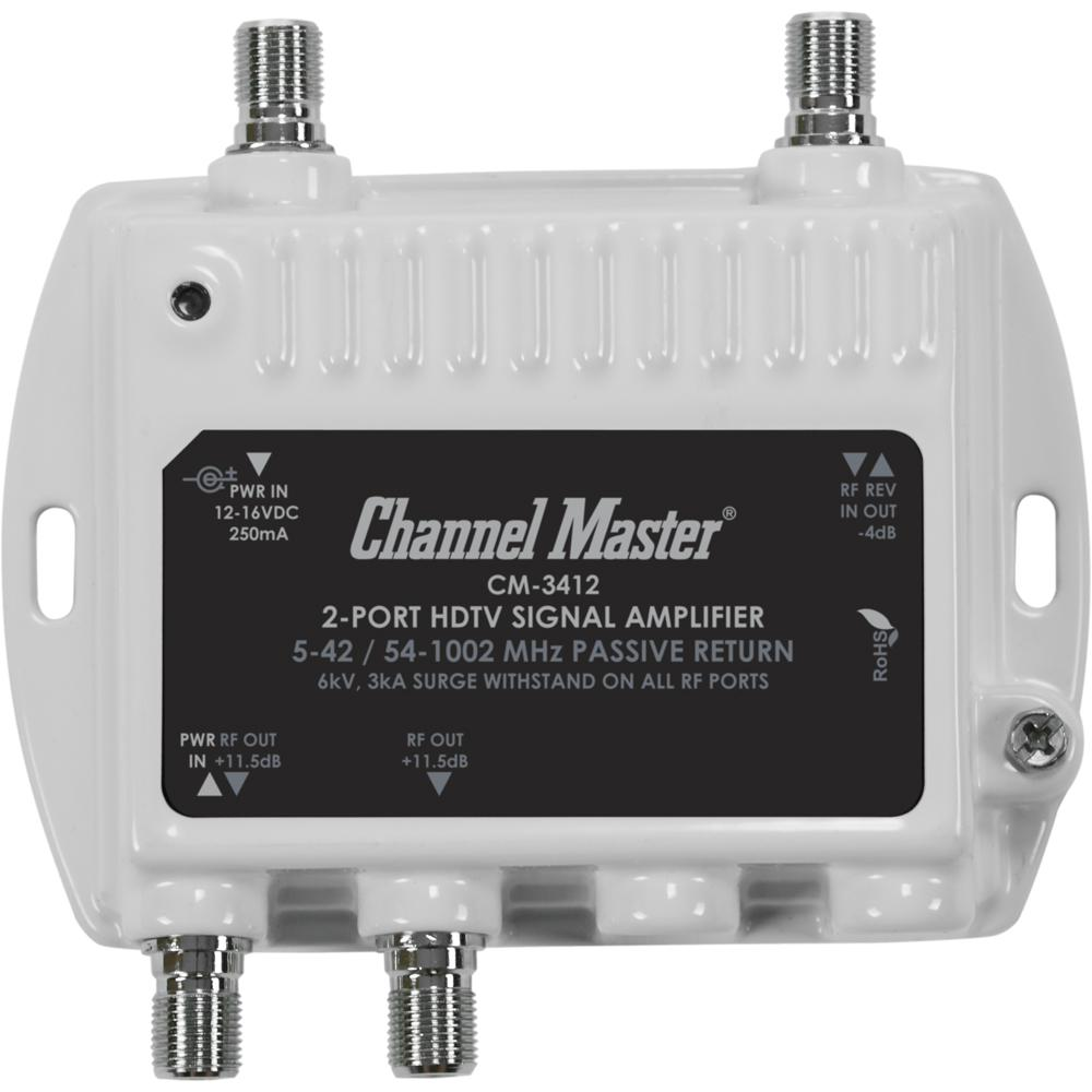 Channel Master 2-Port Indoor/Outdoor Ultra Mini Distribution Signal  Amplifier