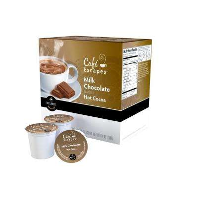 Kcup Pack Cafe Escapes Milk Chocolate Hot Chocolate 96 Count