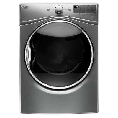 7.4 cu. ft. 120 -Volt Stackable Chrome Shadow Gas Vented Dryer with Advanced Moisture Sensing and Steam Refresh