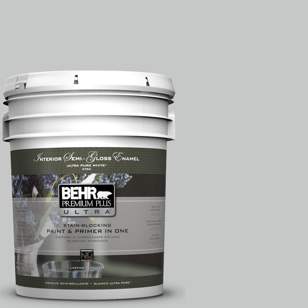 5-gal. #BNC-07 Frosted Silver Semi-Gloss Enamel Interior Paint