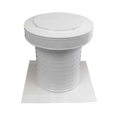 10 in. Dia Aluminum Keepa Static Vent for Flat Roofs in White