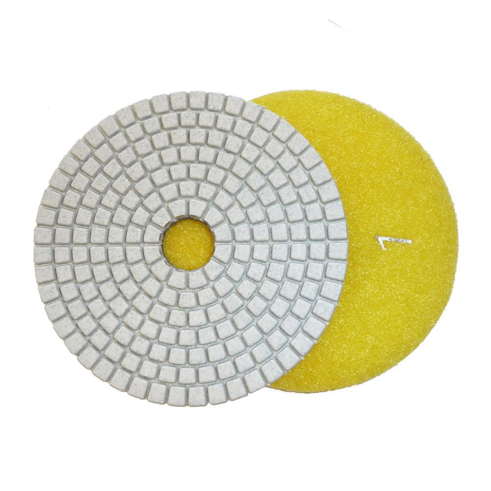 4 in. JHX 3-Step Dry/Wet Diamond Polishing Pads Step 1
