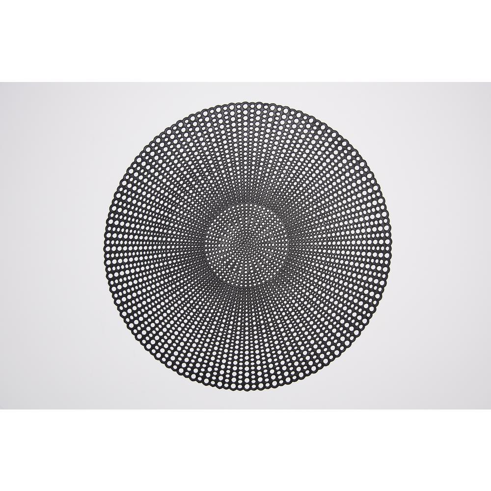 Brocade Black 100% Eco Friendly Vinyl Placemat (Set of 4)