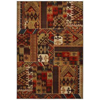 Louis and Clark Bark Brown 3 ft. 6 in. x 5 ft. 6 in. Area Rug