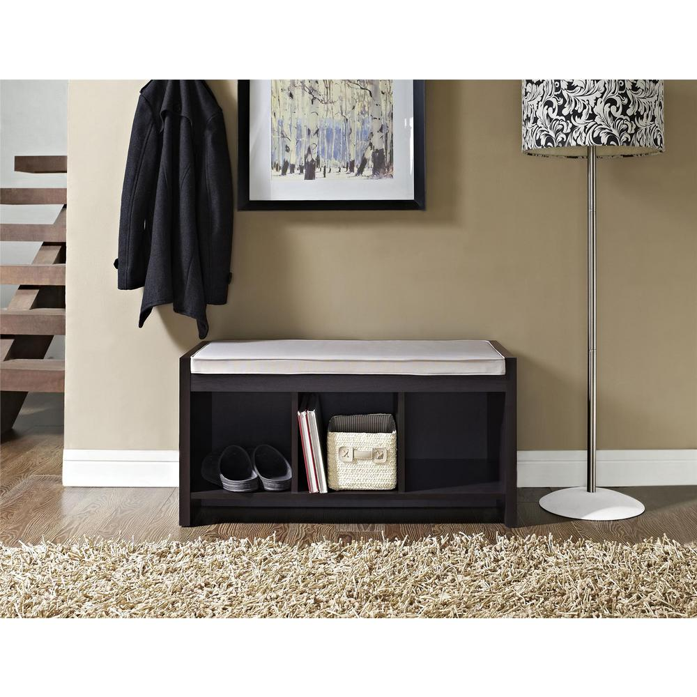 Brilliant Ameriwood Home Pebblebrook Espresso Storage Bench Hd60325 Short Links Chair Design For Home Short Linksinfo