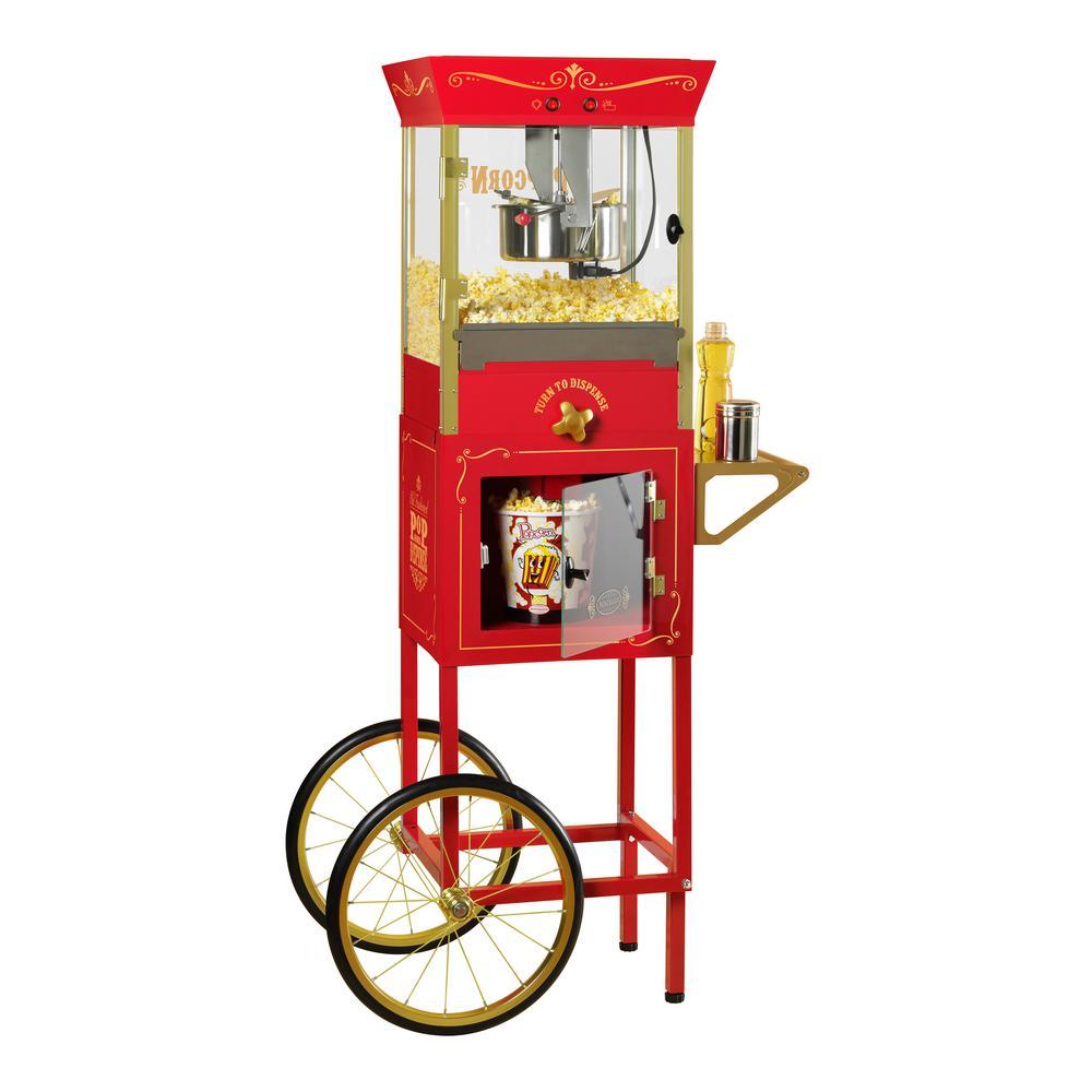 Nostalgia Dispensing Popcorn Machine and Cart