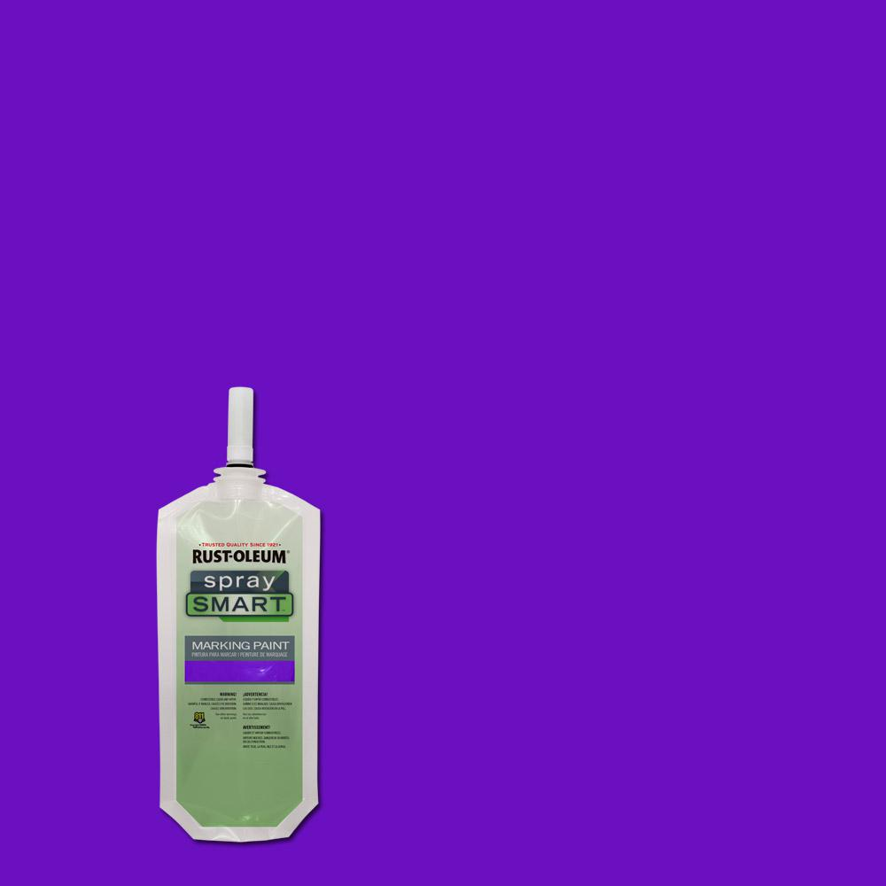 rust oleum 10 5 oz safety purple spraysmart marking paint pouch 12 pack 278381 the home depot. Black Bedroom Furniture Sets. Home Design Ideas