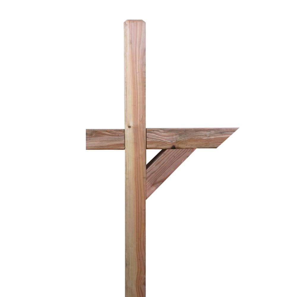 4 in. x 4 in. x 6 ft. Wood Chamfered Mailbox Post-7760 - The Home Depot