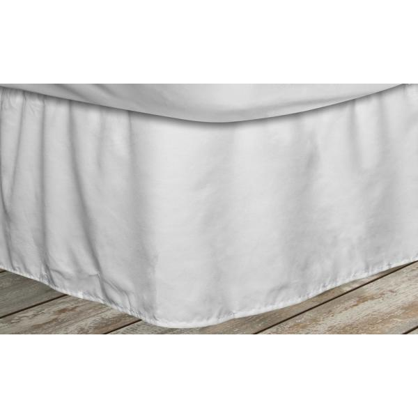 White Striped King Bed Skirt