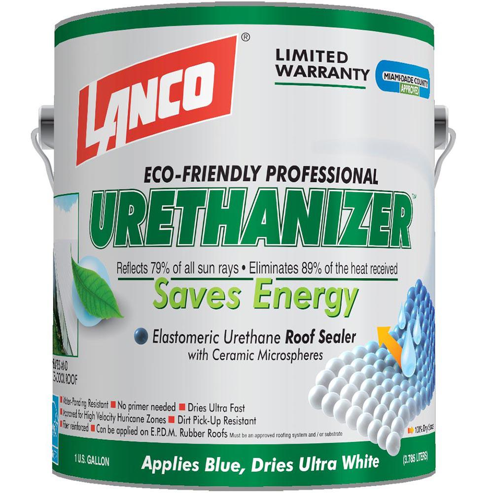 Lanco 1 Gal Urethanizer Reflective Roof Coating Rc994 4