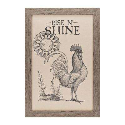 "Homespun Faith Collection ""Rise N' Shine"" by Carpentree Framed Natural Canvas Wall Art"