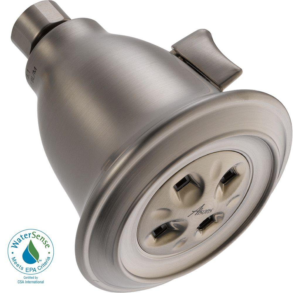 Delta 1-Spray Adjustable GPM Water-Efficient Shower Head in Stainless Featuring H2Okinetic